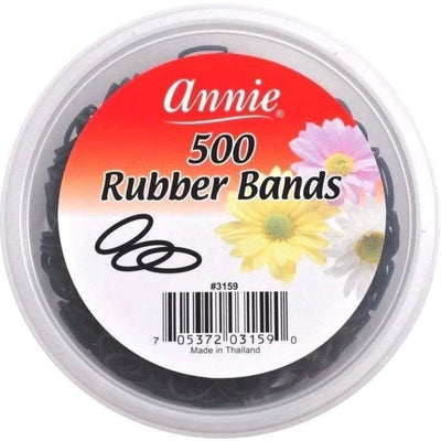Annie Black Rubber Bands 500 PC #3159