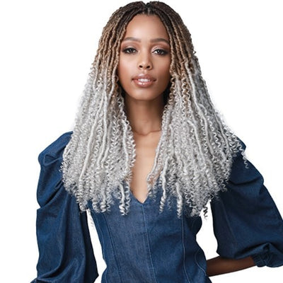 Bobbi Boss Synthetic Crochet Braids - 2X Nu Locs Water Curl Boho Style 18""