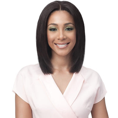 Bobbi Boss Unprocessed Bundle Hair Full Lace Wig - Straight 16""
