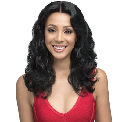 "Bobbi Boss Indi Remi HD 13"" x 4"" 360° Virgin Remy Human Hair Lace Wig - MHRLF-012 Natural Beach Wave 20"""