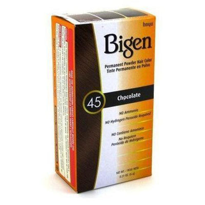 Bigen Permanent Powder Hair Color – Chocolate #45 0.21 OZ
