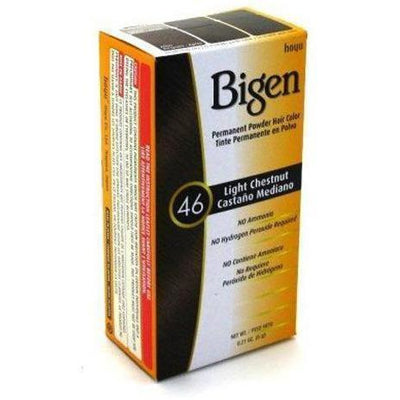 Bigen Permanent Powder Hair Color – Light Chestnut #46 0.21 OZ