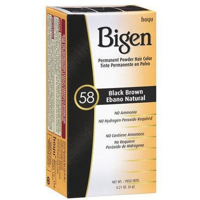 Bigen Permanent Powder Hair Color – Black Brown #58 0.21 OZ
