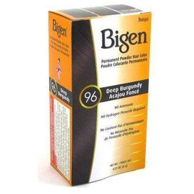 Bigen Permanent Powder Hair Color – Deep Burgundy #96 0.21 OZ