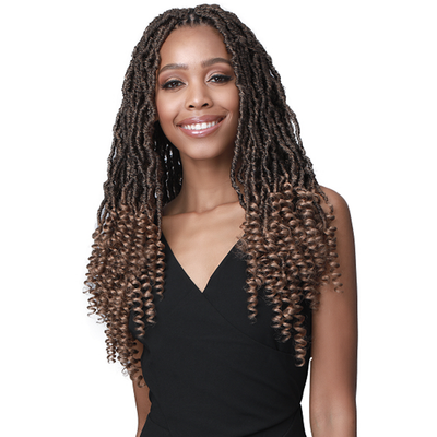 Bobbi Boss Synthetic Braids - 2X Nu Locs Curly Tips 18""