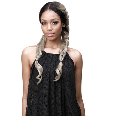 Bobbi Boss Human Hair Blend Braided Lace Front Wig – MBLF-230 Sana