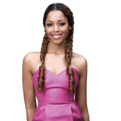 Bobbi Boss Human Hair Blend Braided Lace Front Wig – MBLF-250 Jolene
