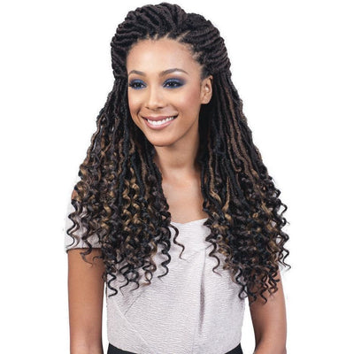 "Bobbi Boss Nu Locs Braids – Curly Tips 20"" (Goddess)"