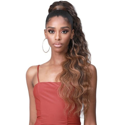 Bobbi Boss Miss Origin Tress Up Human Hair Blend Drawstring Ponytail - Body Wave 28""