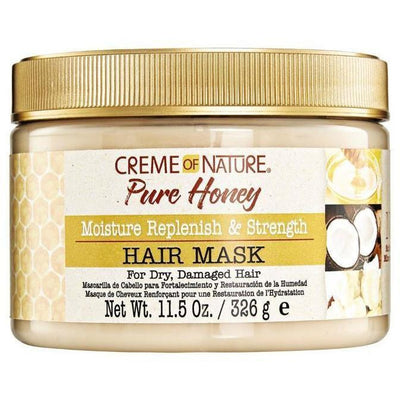 Creme Of Nature Pure Honey Moisture Replenish & Strength Hair Mask 11.5 OZ