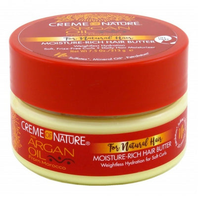 Creme of Nature Argan Oil For Natural Hair Moisture-Rich Hair Butter 7.5 oz