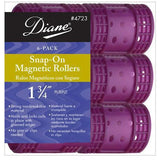"Diane 1 3/4"" Snap-On Magnetic Rollers 6-Pack #D4723"