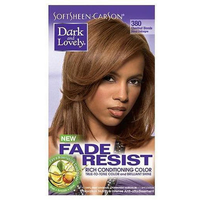 Dark and Lovely Fade Resist Rich Conditioning Color 380 Chestnut Blonde