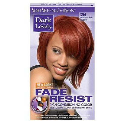 Dark and Lovely Fade Resist Rich Conditioning Color 394 Vivacious Red