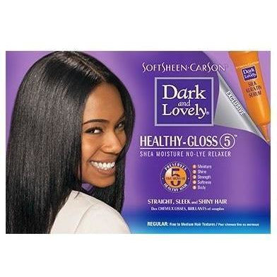 Dark and Lovely Healthy-Gloss 5 Shea Moisture No Lye Relaxer – Regular