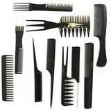 Diane Assorted Comb Kit 10-Pack #7901 Black