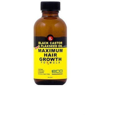 Eco Style Black Castor & Flaxseed Oil Maximum Hair Growth Formula 2 OZ