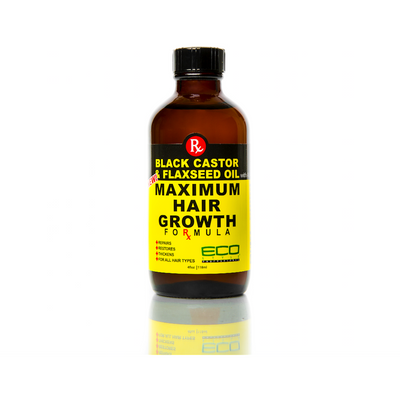 Eco Style Black Castor & Flaxseed Oil Maximum Hair Growth Formula 4 OZ