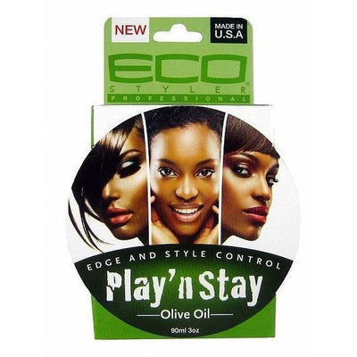 Eco Style Play 'N Stay Edge & Style Control Olive Oil 3 OZ