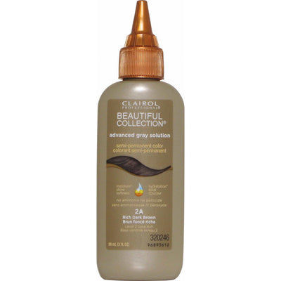 Clairol Beautiful Collection Advanced Gray Solution – Rich Dark Brown #2A 3.0 OZ