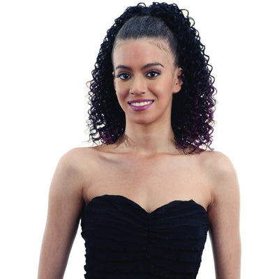 FreeTress Equal Synthetic Drawstring Ponytail – Berry Girl