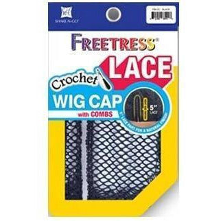 Freetress Lace Crochet Wig Cap With Combs – Black