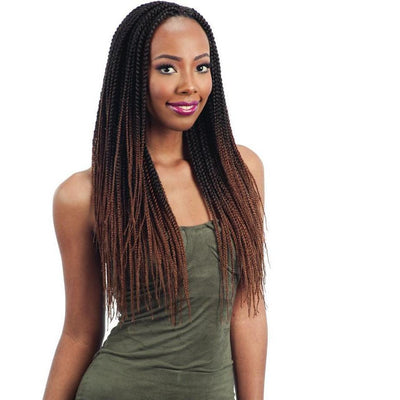 FreeTress Synthetic Braids – 2X Pre-Feathered Box Braid 20""