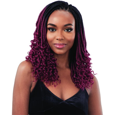 FreeTress Crochet Synthetic Braids – Straight Gorgeous Loc 12""