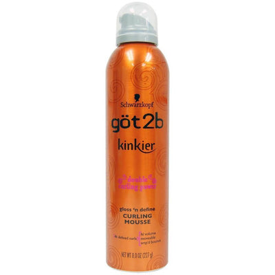 got2b Kinkier Gloss 'n Define Curling Mousse 8 OZ