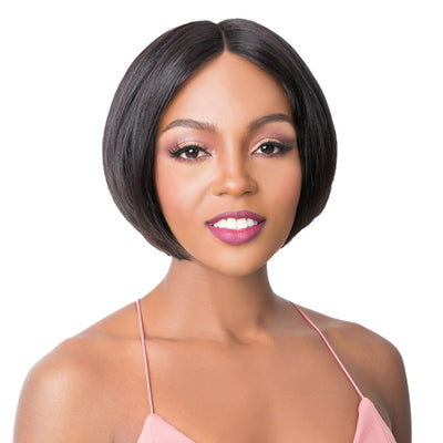 It's A Wig! Wide T Part Human Hair Swiss Lace Wig - Mimi