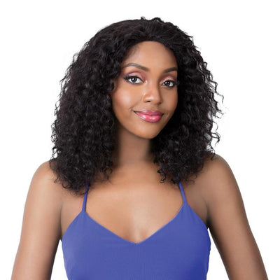 It's A Wig! Human Hair Salon Remi Swiss Lace Front Wig – Wet N Wavy Deep