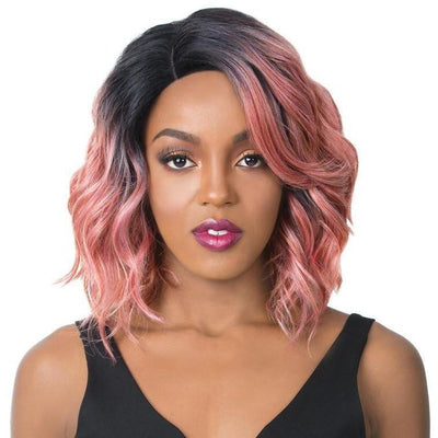 It's A Wig! Synthetic Swiss Lace Front Wig – Glanage