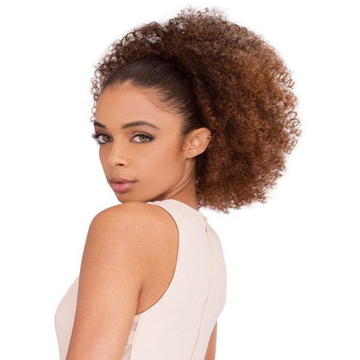 Janet Collection Noir Everytime Drawstring Ponytail – Afro Coily String