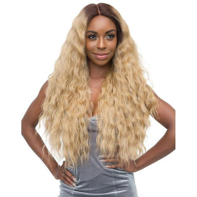 Janet Collection Synthetic Lace Based Extended Part Swiss Lace Wig – Athena