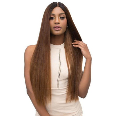 Janet Collection Synthetic Lace Based Extended Part Swiss Lace Wig – Leah