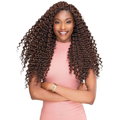 Janet Collection Perm & Natural Texture Synthetic Braids – 2X Peruvian Dominican Curl 18""