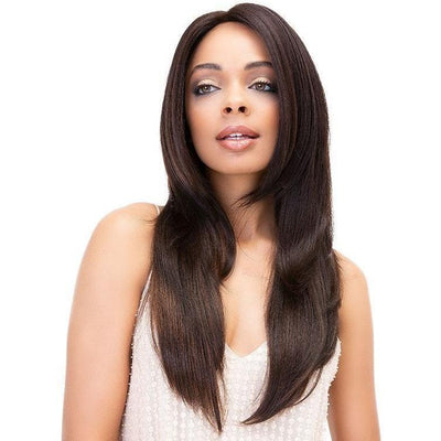 Janet Collection Virgin Remy Hair Deep Part Swiss Lace Front Wig – Noble 20""
