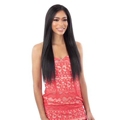"Shake-N-Go Organique MasterMix Yaky Straight 4PCS-  (14""/16""/18"") + Lace Closure"