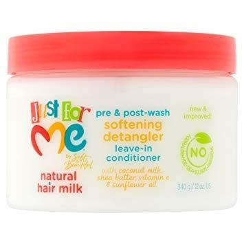 Just For Me Hair Milk Softening Detangler Leave-In Conditioner 12 OZ