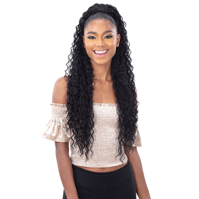 Shake-N-Go Synthetic Organique Ponytail - Beach Curl 28""