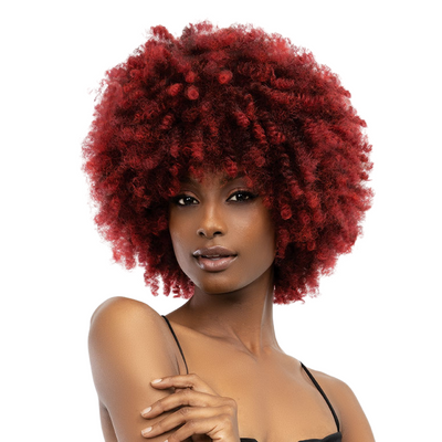 Janet Collection Natural Curly Premium Synthetic Wig - Natural Afro Kane