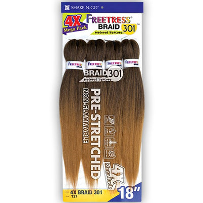 FreeTress Equal Pre-Stretched Synthetic Braids - 4X Braid 301 18""