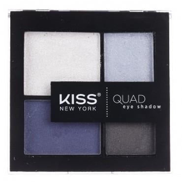 Kiss New York Quad Eye Shadow Palette – KQS03 Navy