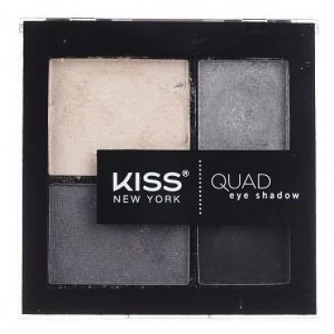Kiss New York Quad Eye Shadow Palette – KQS04 Grey