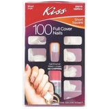Kiss Plain Nail Kit – Short Square 100PS14