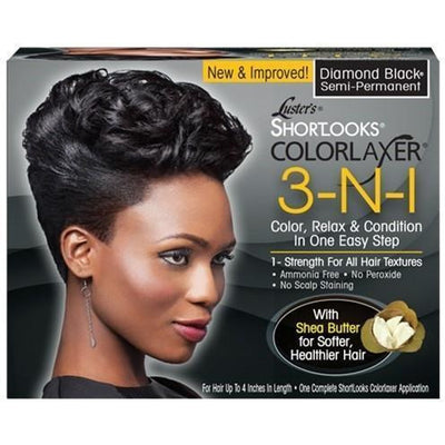Luster's Shortlooks Colorlaxer (3-N-1) – Diamond Black
