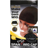 M&M Headgear Qfitt Dome Style Wig Cap #5017 BLACK