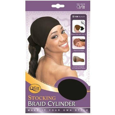 M&M Headgear Qfitt Stocking Braid Cylinder, Black #108