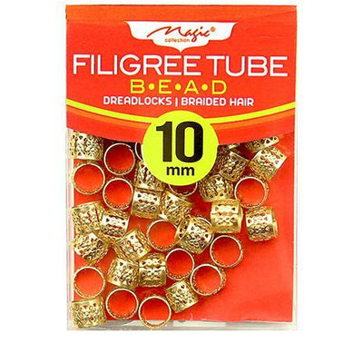 Magic Collection 10MM Gold Filigree Tube #012DISGOL