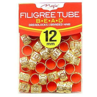 Magic Collection 12MM Gold Filigree Tube #013DISGOL
